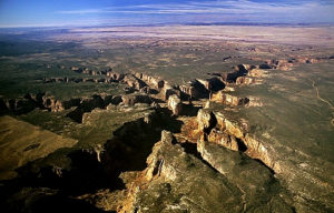 Canyon de Chelly from the air. This was Edgar's neighborhood...